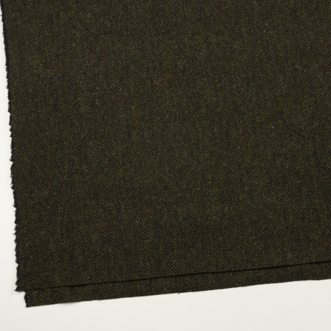 ウール×ミックス(カーキグリーン&ブラック)×ツイード イメージ2