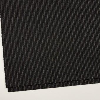 ウール×ストライプ(ブラック&アイボリー)×メルトン サムネイル2