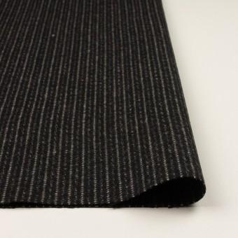 ウール×ストライプ(ブラック&アイボリー)×メルトン サムネイル3