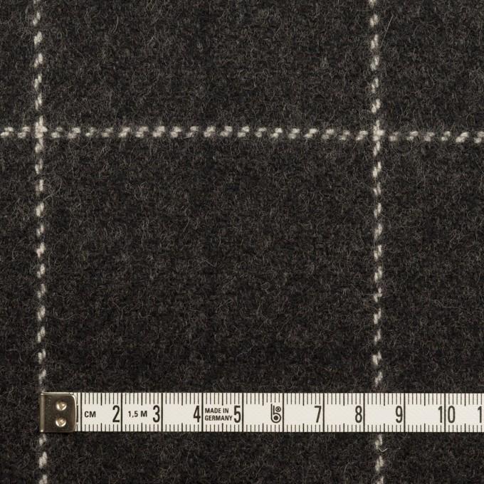 ウール×チェック(チャコール)×カルゼ イメージ4