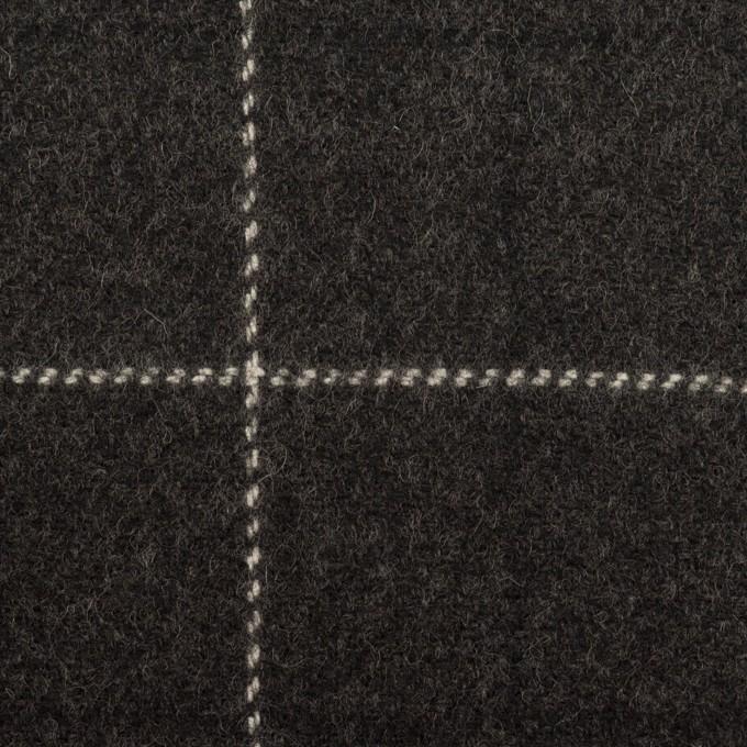 ウール×チェック(チャコール)×カルゼ イメージ1