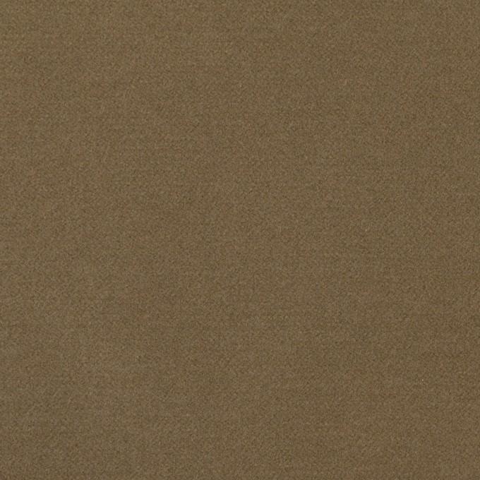 コットン&ポリウレタン×無地(カーキブラウン)×フランネル・ストレッチ_全3色 イメージ1