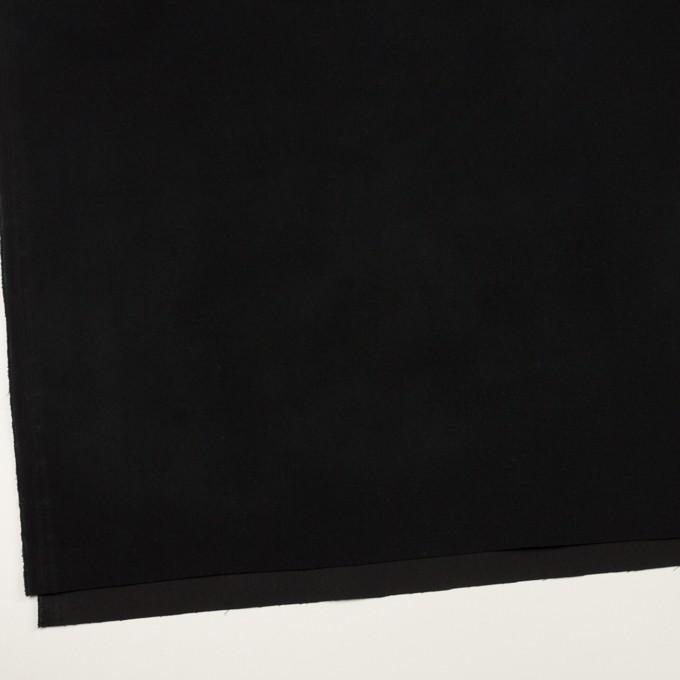 コットン&ポリウレタン×無地(ブラック)×フランネル・ストレッチ_全3色 イメージ2