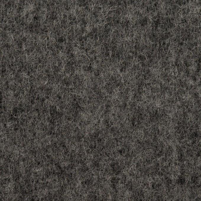 ウール×無地(チャコールグレー)×ソフトメルトン イメージ1