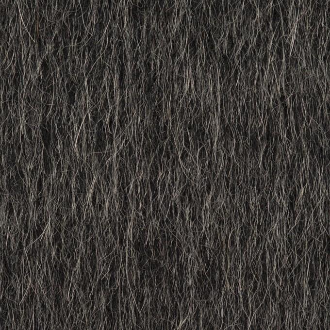 ウール×ミックス(チャコール)×シャギー イメージ1