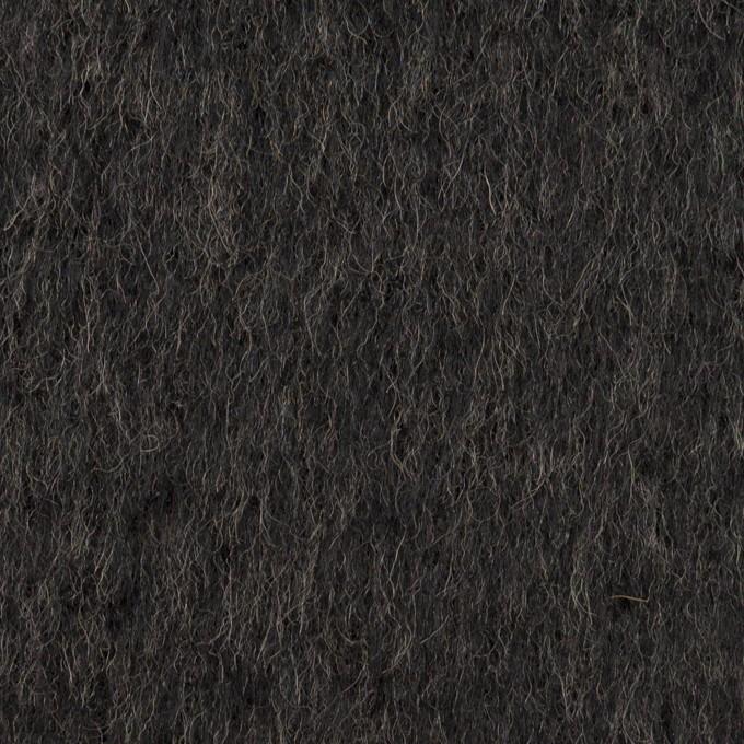 ウール&アクリル混×無地(チャコール)×シャギー イメージ1