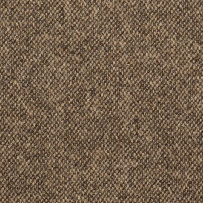 ウール&ポリエステル混×ミックス(ベージュ&ブラウン)×ツイードストレッチ イメージ1