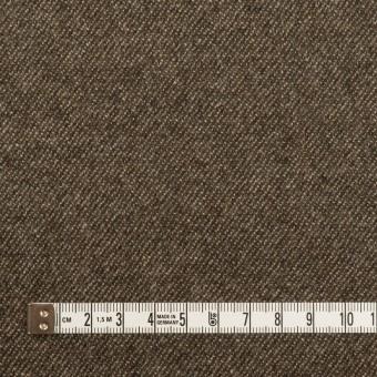 ウール&ポリウレタン×無地(アッシュブラウン)×サージストレッチ サムネイル4