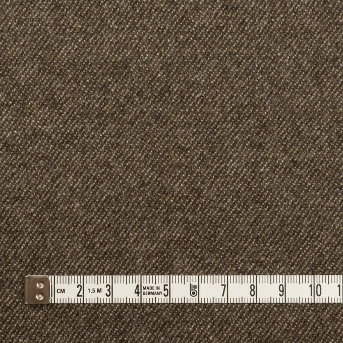 ウール&ポリウレタン×無地(アッシュブラウン)×サージストレッチ イメージ4
