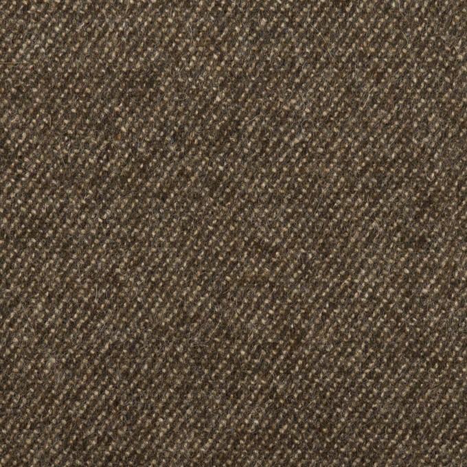 ウール&ポリウレタン×無地(アッシュブラウン)×サージストレッチ イメージ1