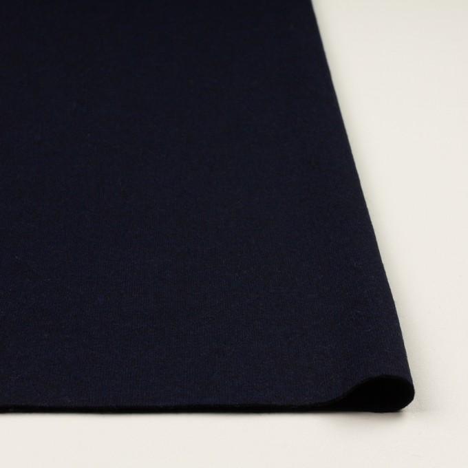 ウール×無地(ミッドナイトブルー&ブラック)×Wニット イメージ3