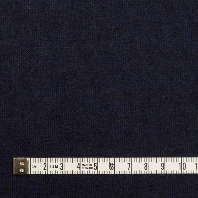 ウール×無地(ミッドナイトブルー&ブラック)×Wニット イメージ4