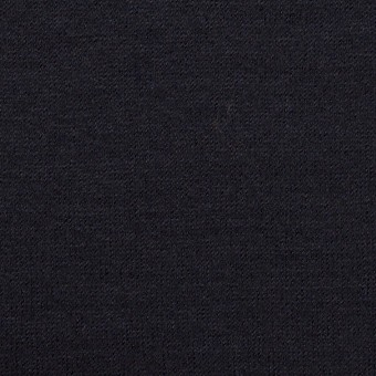 ウール&ナイロン×無地(ダークネイビー&ブラック)×Wニット
