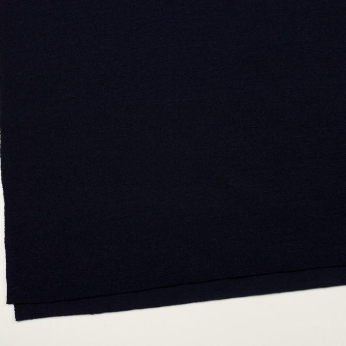 ウール&アクリル混×無地(ダークネイビー)×ループニット イメージ2