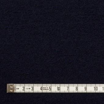 ウール&アクリル混×無地(ダークネイビー)×ループニット サムネイル4