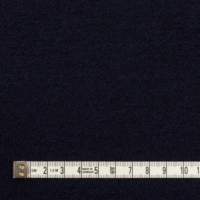 ウール&アクリル混×無地(ダークネイビー)×ループニット イメージ4