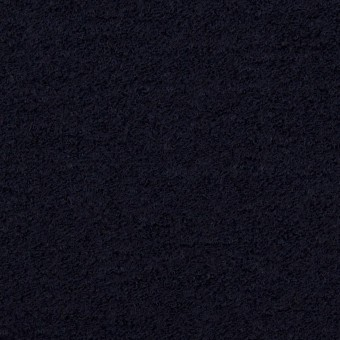 ウール&アクリル混×無地(ダークネイビー)×ループニット
