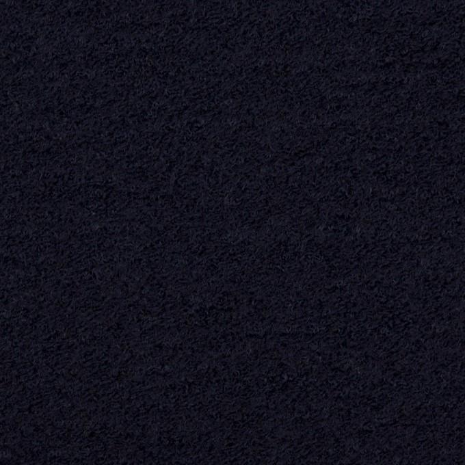 ウール&アクリル混×無地(ダークネイビー)×ループニット イメージ1