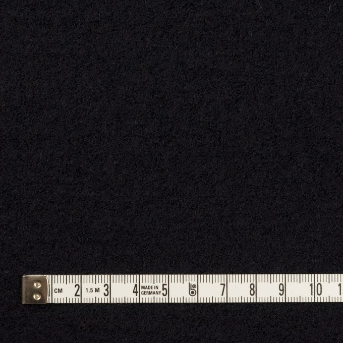 ウール&アクリル混×無地(ブラック)×ループニット イメージ4