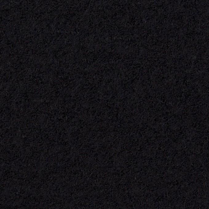 ウール&アクリル混×無地(ブラック)×ループニット イメージ1