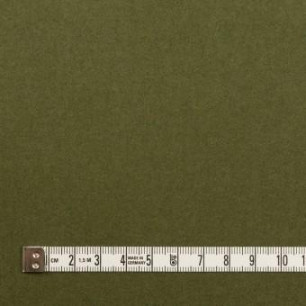 コットン&ポリウレタン×無地(カーキグリーン)×フランネル・ストレッチ サムネイル4