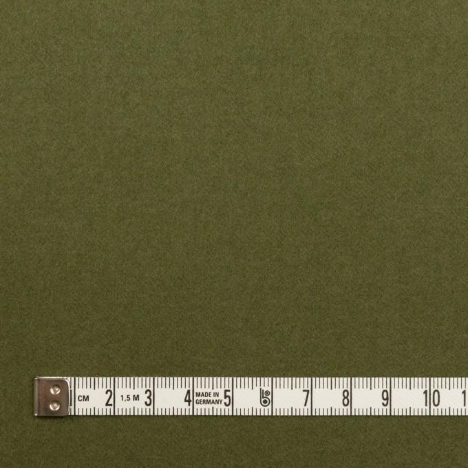 コットン&ポリウレタン×無地(カーキグリーン)×フランネル・ストレッチ イメージ4