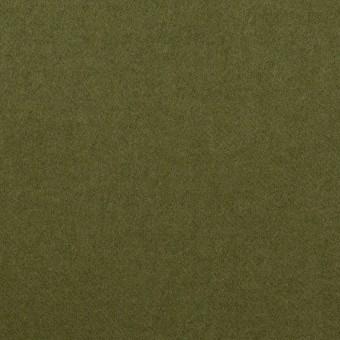 コットン&ポリウレタン×無地(カーキグリーン)×フランネル・ストレッチ サムネイル1