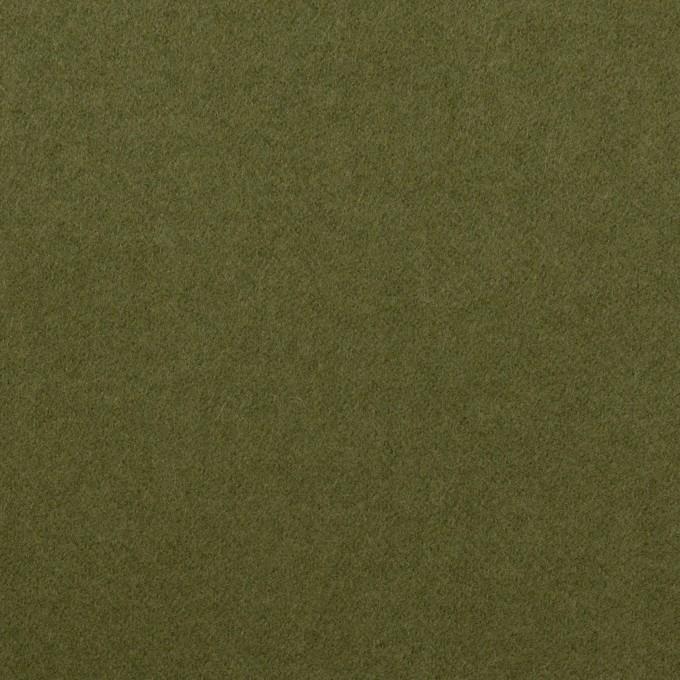 コットン&ポリウレタン×無地(カーキグリーン)×フランネル・ストレッチ イメージ1