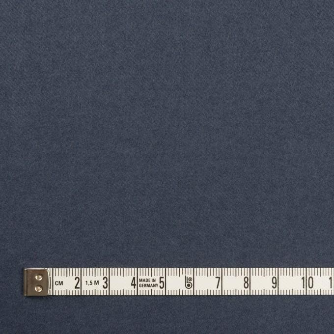 コットン&ポリウレタン×無地(アッシュネイビー)×フランネル・ストレッチ イメージ4