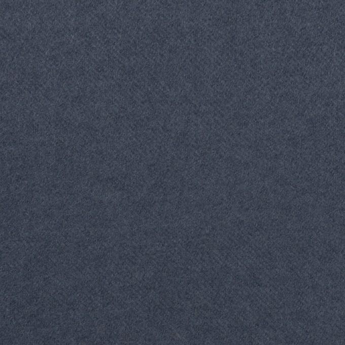 コットン&ポリウレタン×無地(アッシュネイビー)×フランネル・ストレッチ イメージ1