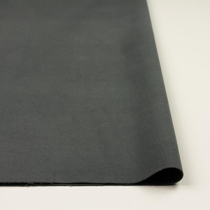 コットン&ポリウレタン×無地(スチールグレー)×ビエラストレッチ イメージ3