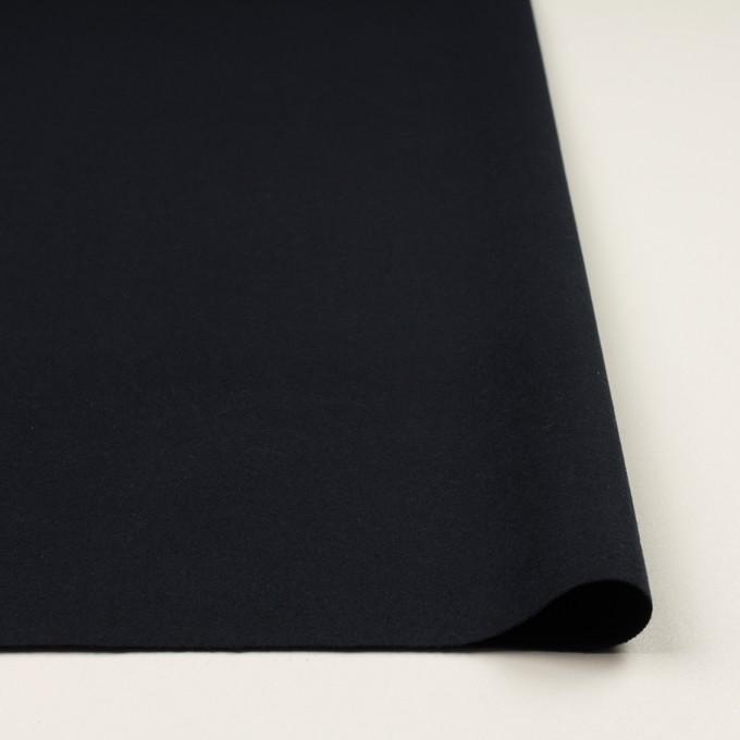 コットン&ポリウレタン×無地(ダークネイビー)×フランネル・ストレッチ イメージ3