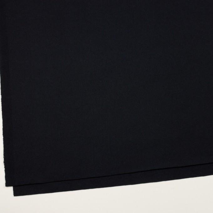 ウール×無地(ブルーブラック)×フラノ(フランネル) イメージ2