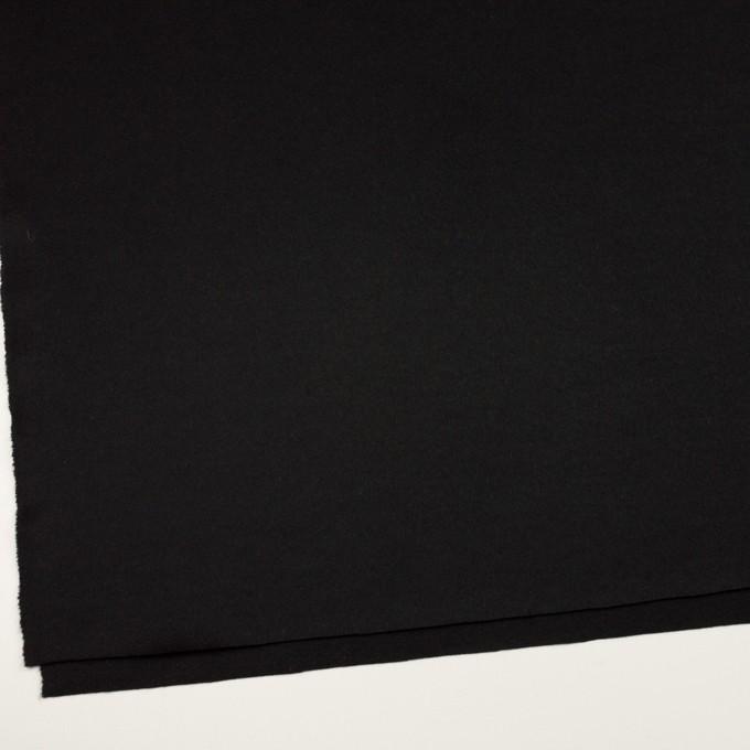 ウール&ポリウレタン×無地(ブラック)×ビーバーストレッチ イメージ2