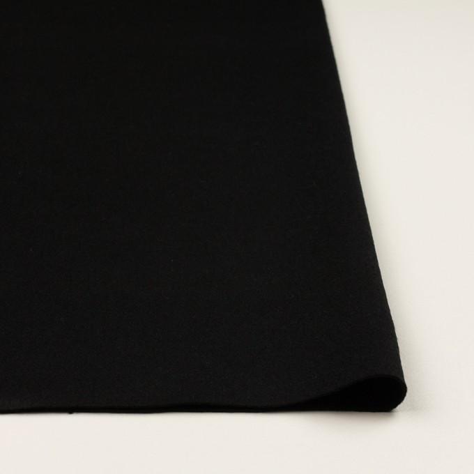 ウール&ポリウレタン×無地(ブラック)×ビーバーストレッチ イメージ3