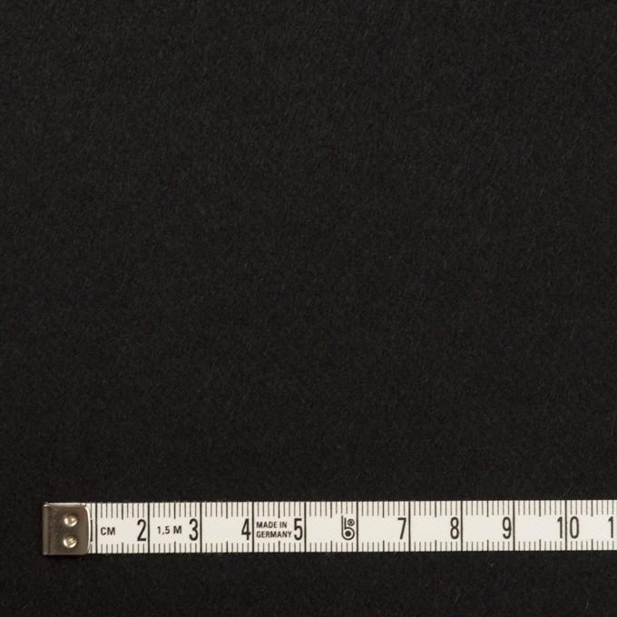 ウール&ポリウレタン×無地(ブラック)×ビーバーストレッチ イメージ4