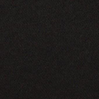 ウール&ポリウレタン×無地(ブラック)×ビーバーストレッチ