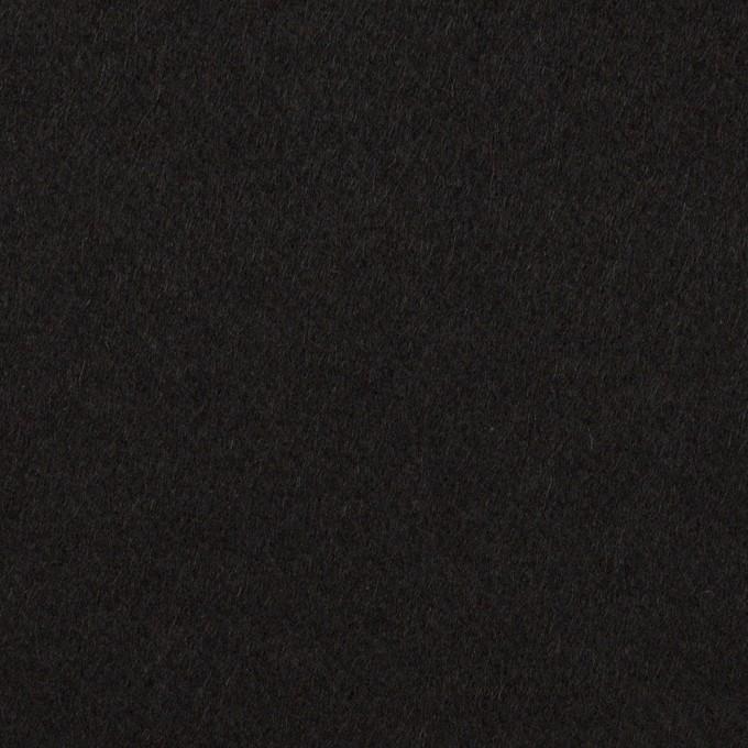 ウール&ポリウレタン×無地(ブラック)×ビーバーストレッチ イメージ1