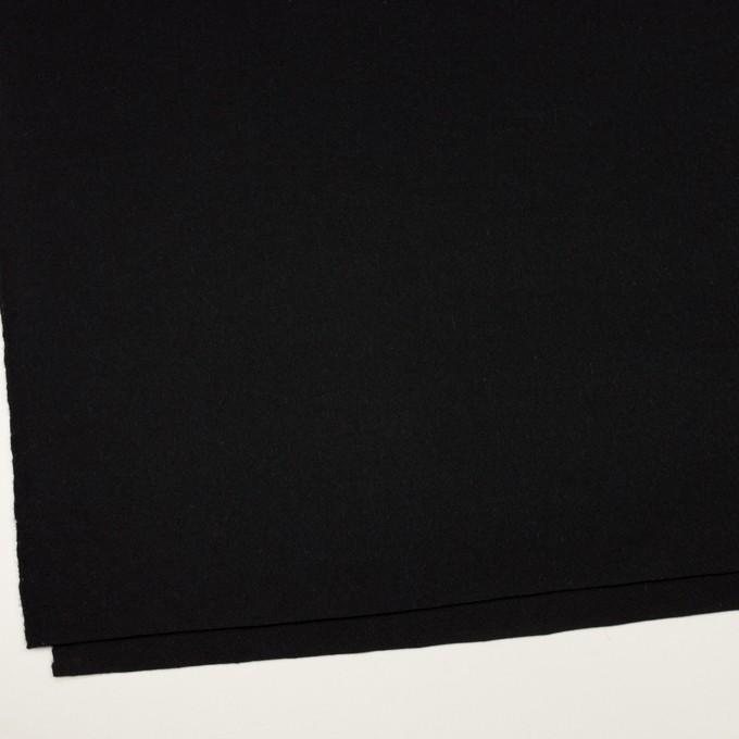 ウール&アンゴラ×無地(ブラック)×フラノ(フランネル) イメージ2