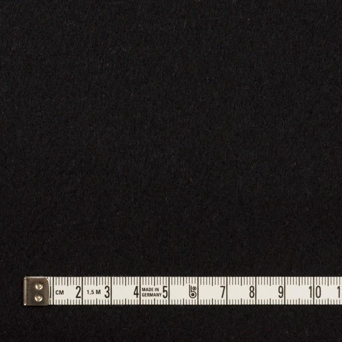 ウール&アンゴラ×無地(ブラック)×フラノ(フランネル) イメージ4