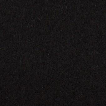 ウール&アンゴラ×無地(ブラック)×フラノ(フランネル)