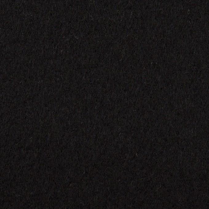 ウール&アンゴラ×無地(ブラック)×フラノ(フランネル) イメージ1
