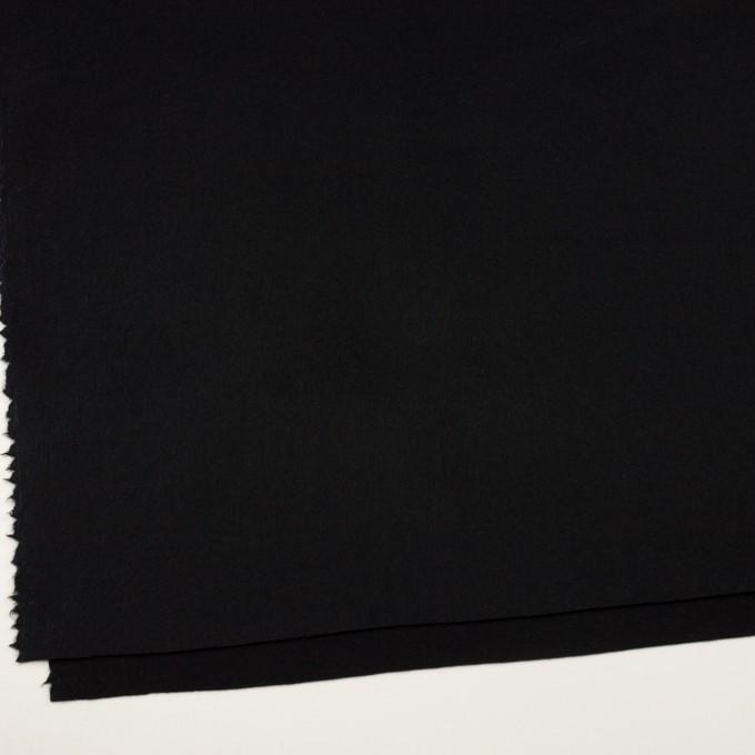 ウール×無地(ブラック)×Wフェイスフラノ イメージ2