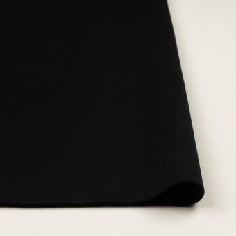ウール×無地(ブラック)×Wフェイスフラノ サムネイル3