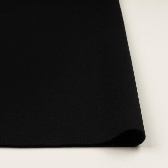 ウール×無地(ブラック)×Wフェイスフラノ イメージ3