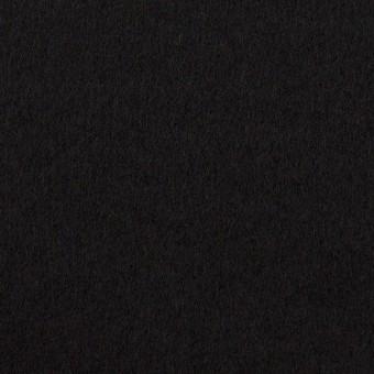ウール×無地(ブラック)×Wフェイスフラノ