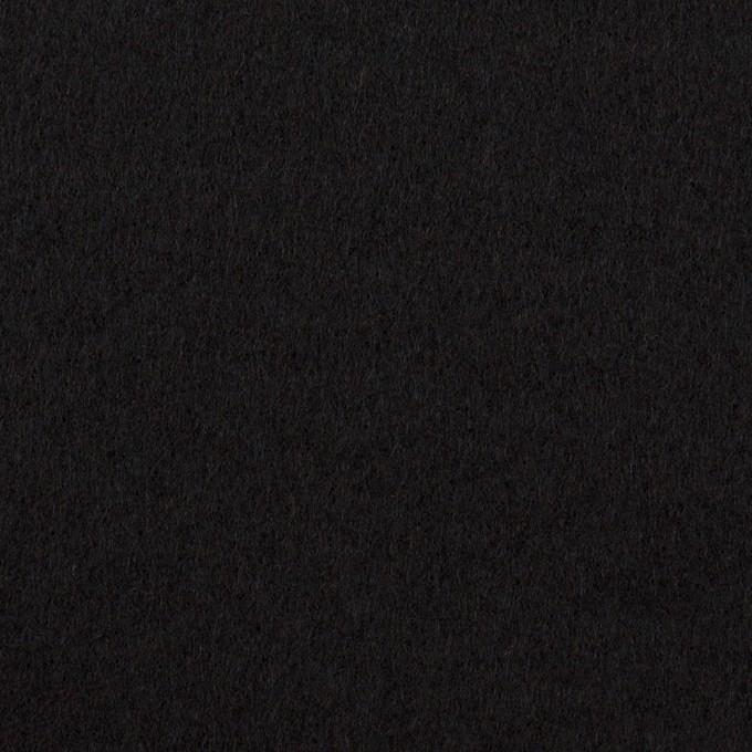 ウール×無地(ブラック)×Wフェイスフラノ イメージ1