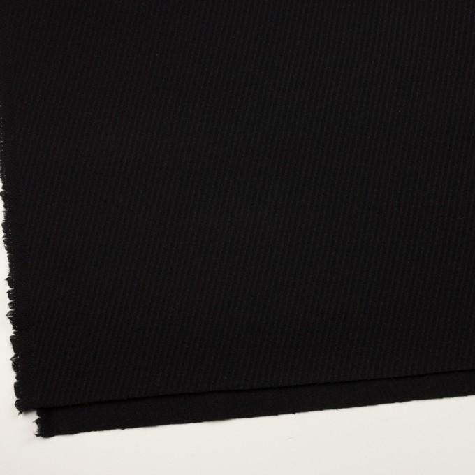 ウール×無地(ブラック)×カルゼ イメージ2