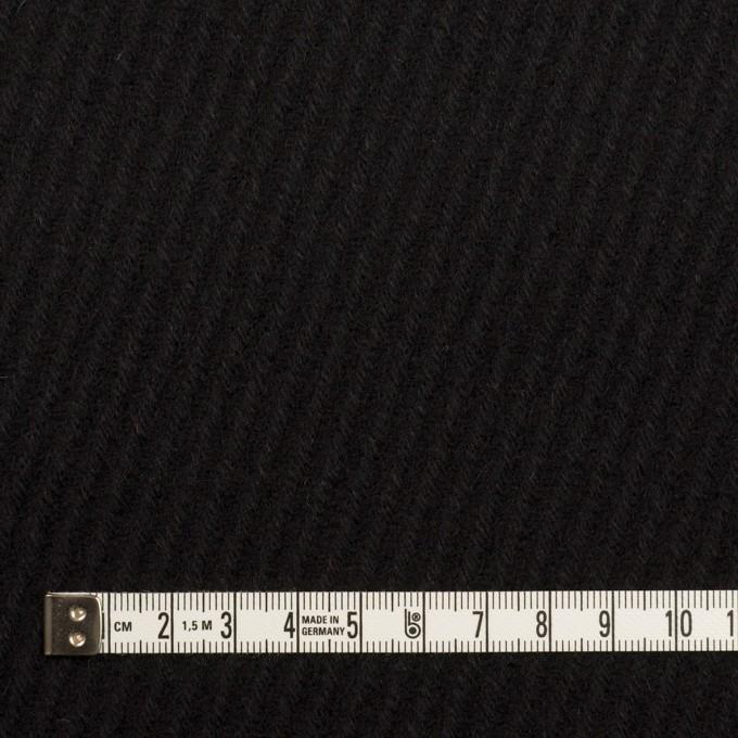 ウール×無地(ブラック)×カルゼ イメージ4