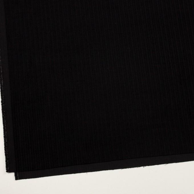 ウール×無地(ブラック)×太コーデュロイ イメージ2
